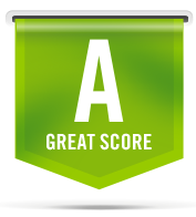 A grade with the text great score