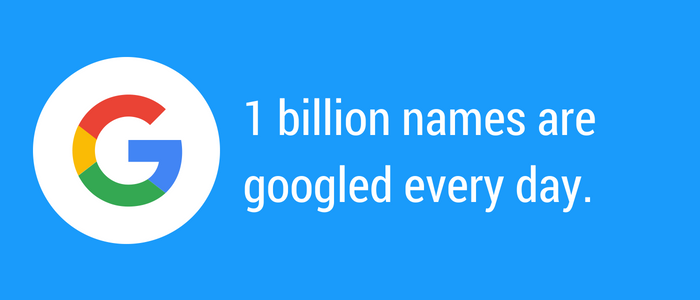 One billion names are googled each day